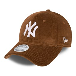 New York Yankees Corduroy Womens Brown 9FORTY Cap