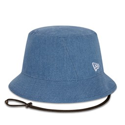 New Era Washed Denim Womens Bucket Hat
