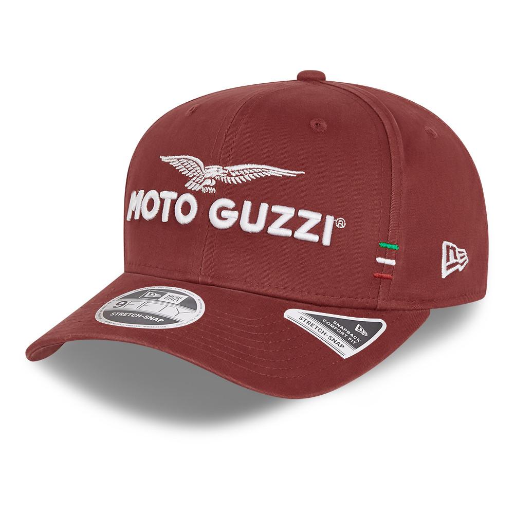 Casquette 9FIFTYMoto Guzzi en coton délavé rouge