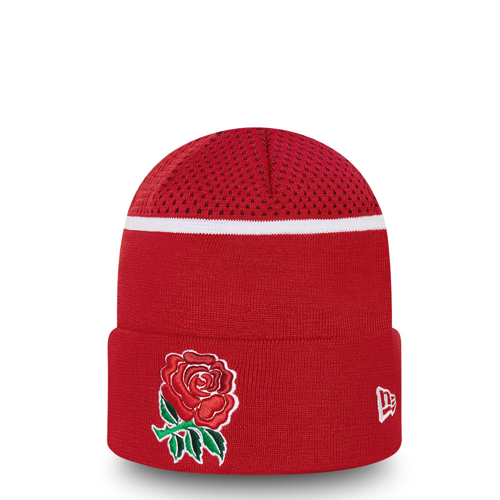 Gorro de punto England Rugby Engineered Fit, rojo