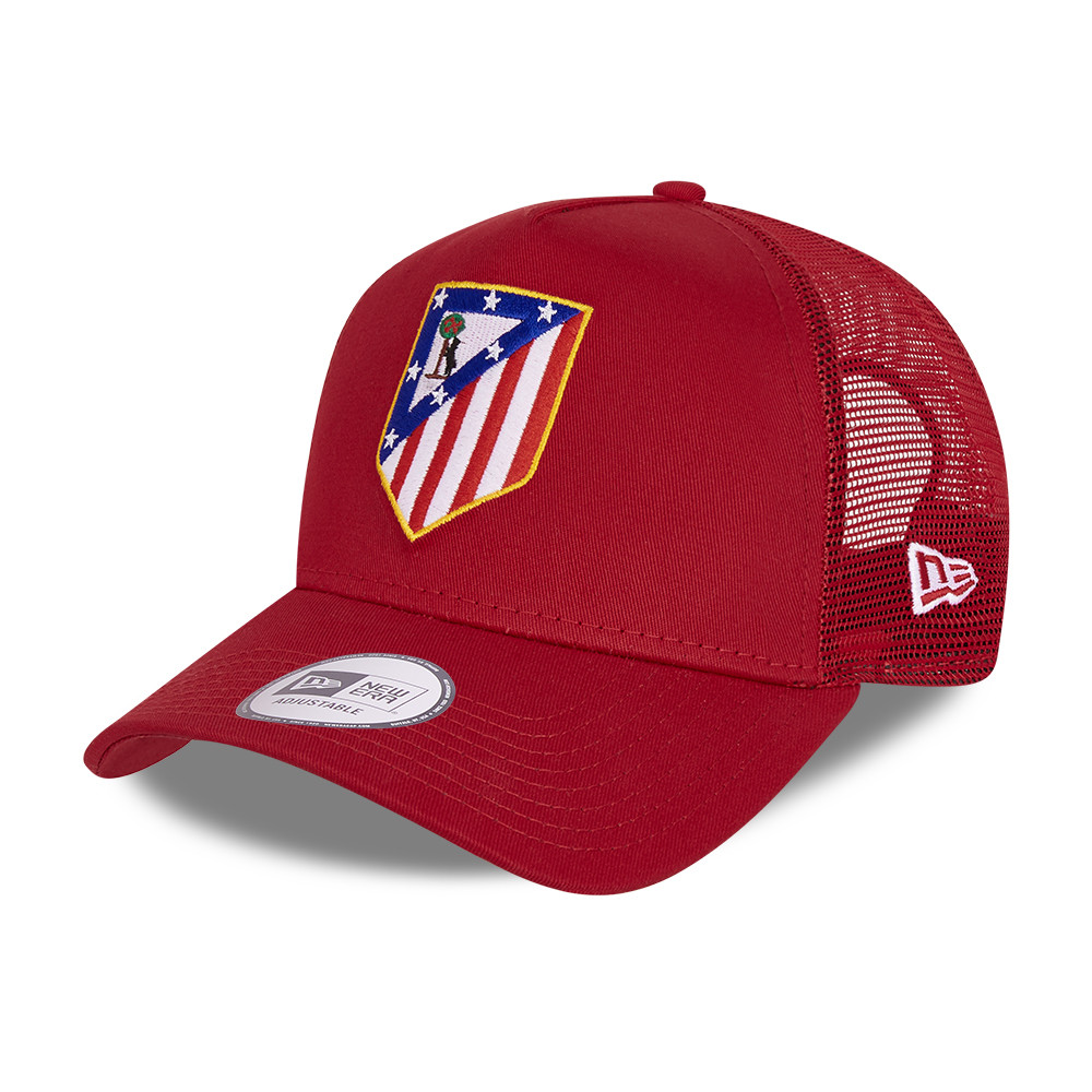 Atletico Madrid Cotton Red A-Frame Trucker Cap