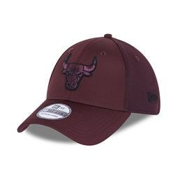 Chicago Bulls Mesh Back Maroon 39THIRTY Cap