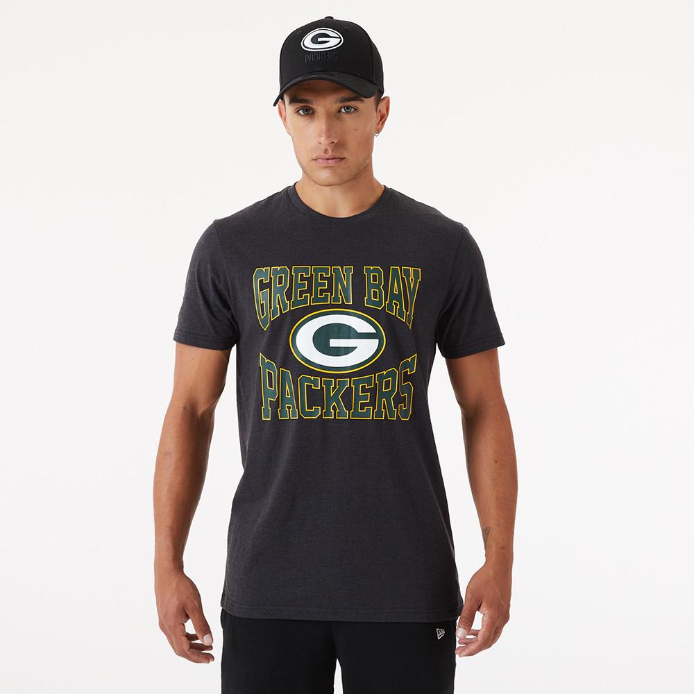 T-shirt Green Bay Packers gris avec logo de l'équipe