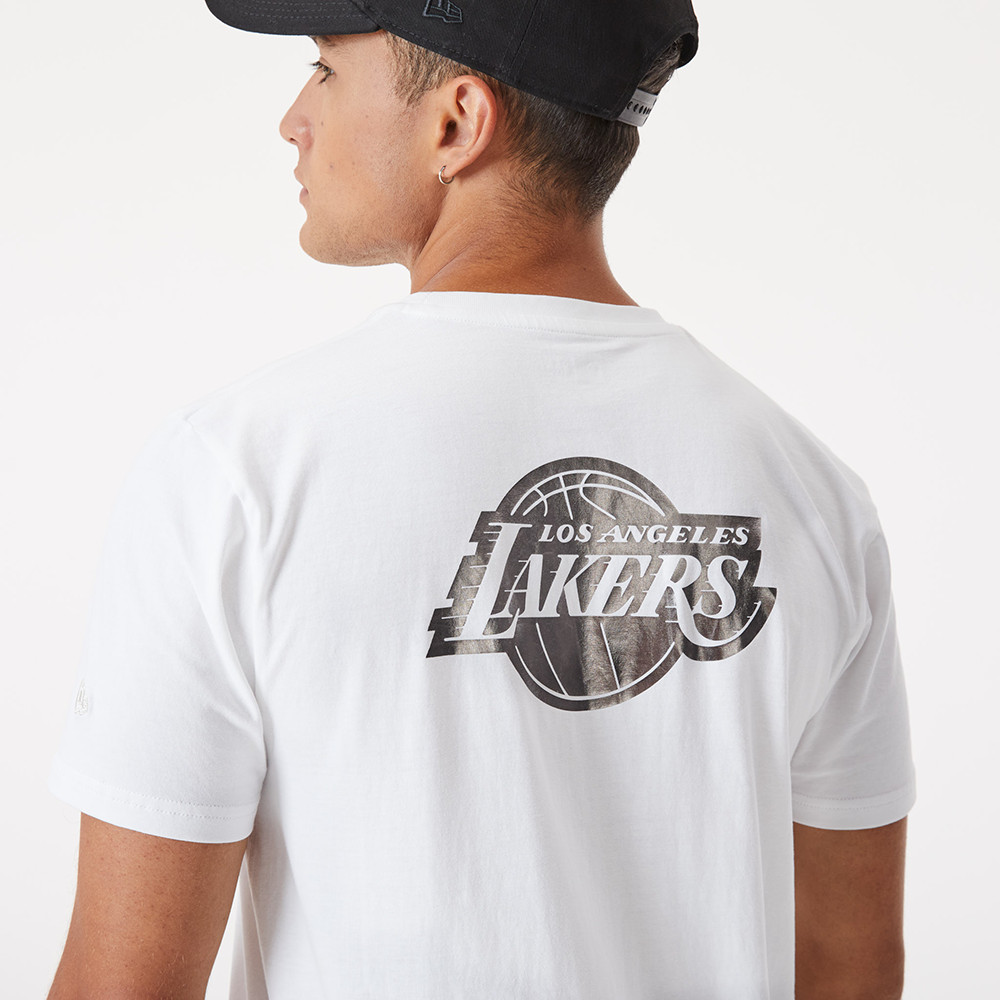 T-shirt Metallic LA Lakers bianco