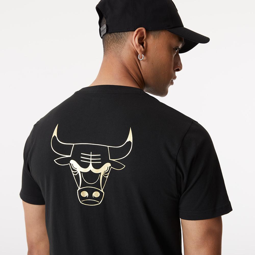 T-Shirt Metallic Chicago Bulls nera
