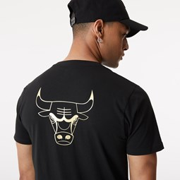 T-Shirt Metallic Chicago Bulls nera