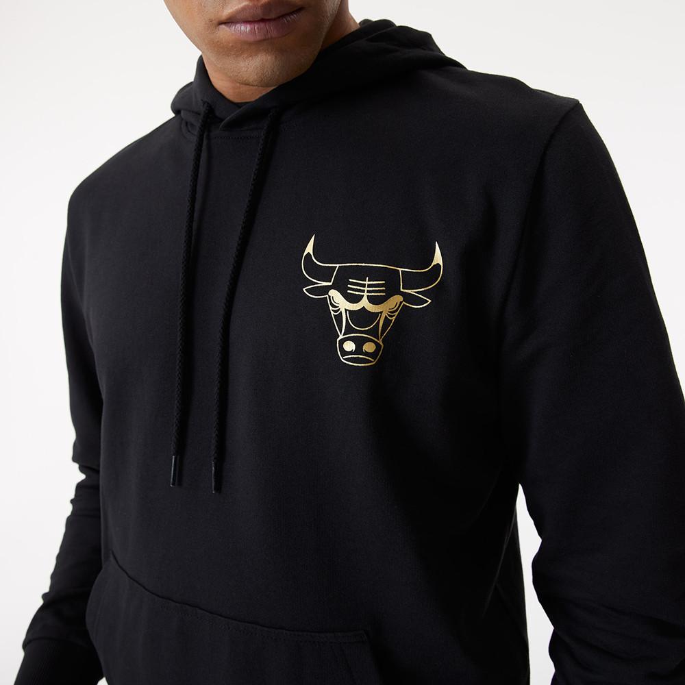 Felpa con cappuccio Metallic Chicago Bulls nera