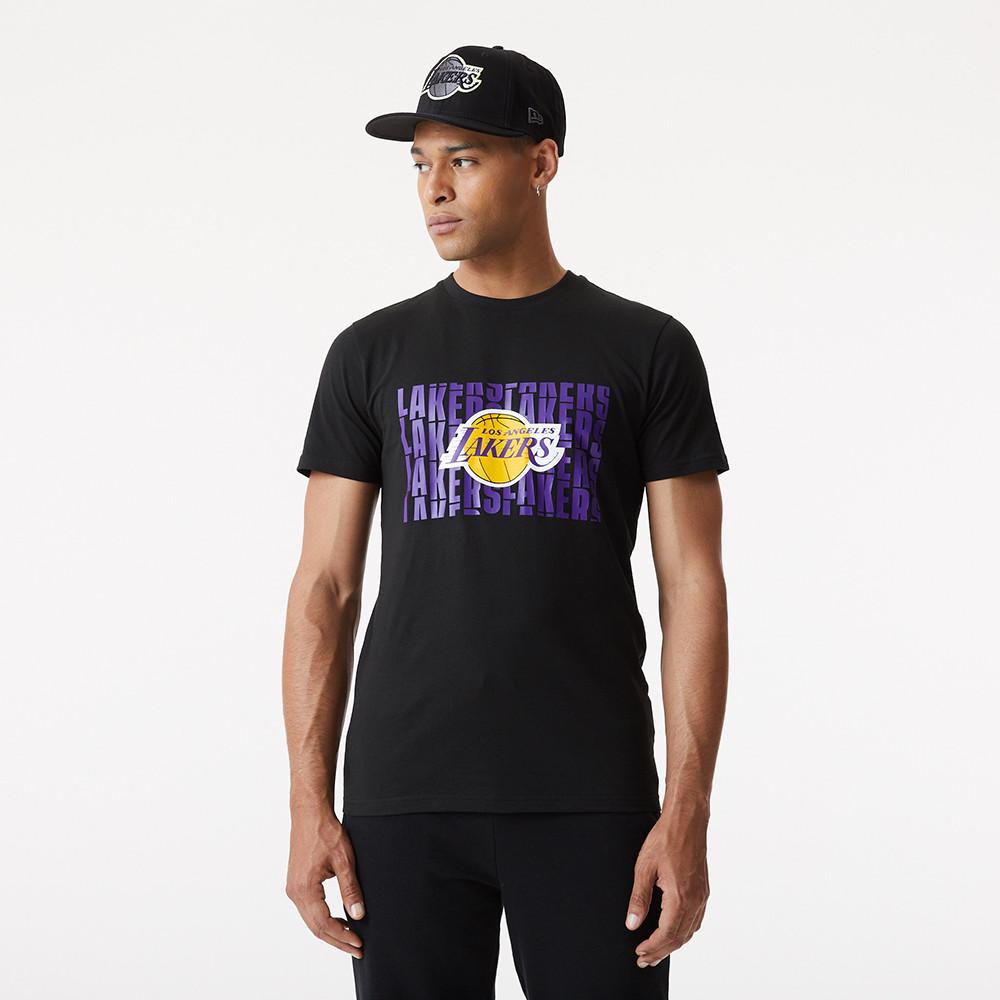 LA Lakers – T-Shirt in Schwarz mit Schriftzug