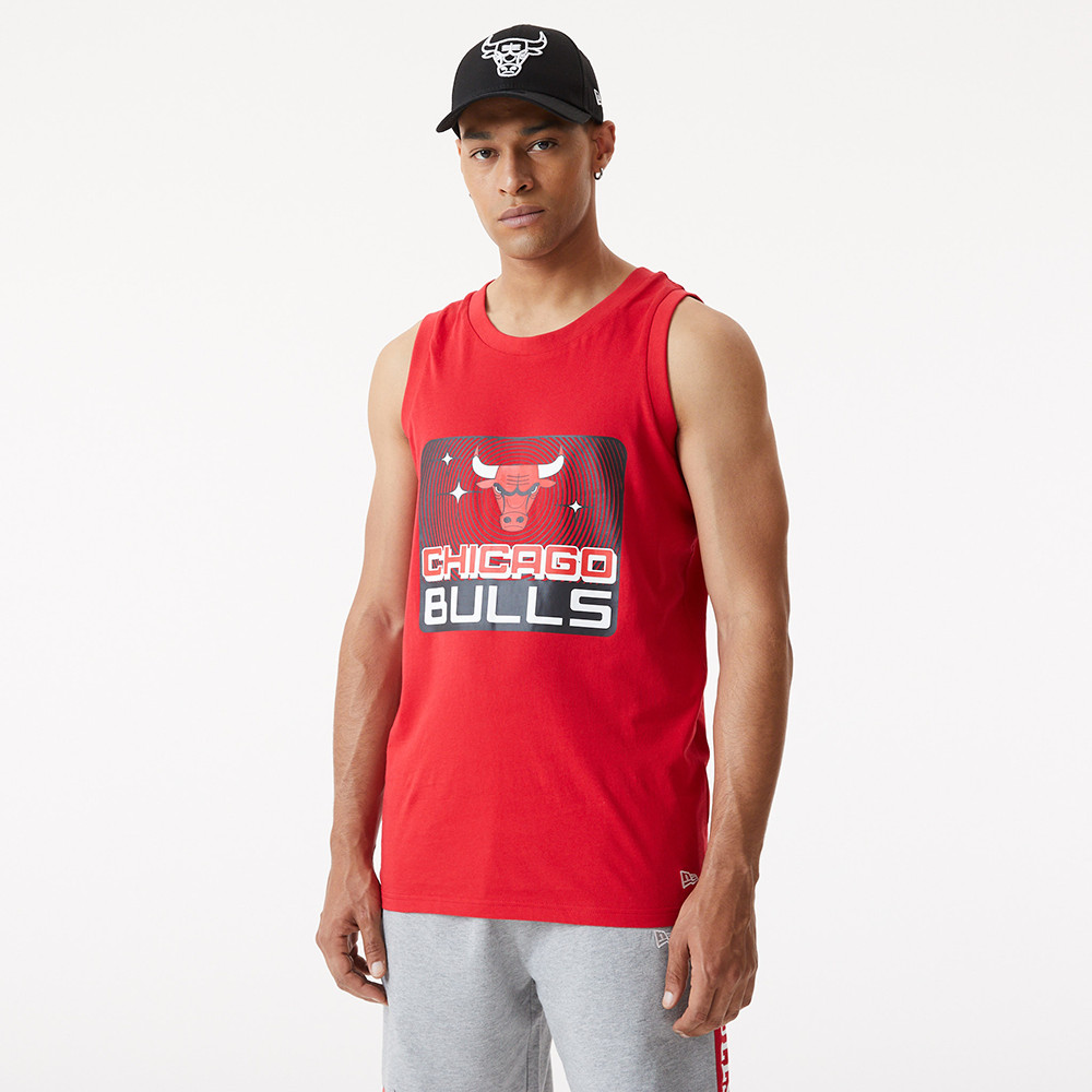 Chicago Bulls Graphic Red Tank Top