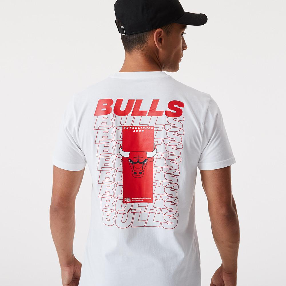 T-shirt avec logo Repeat des Chicago Bulls blanc