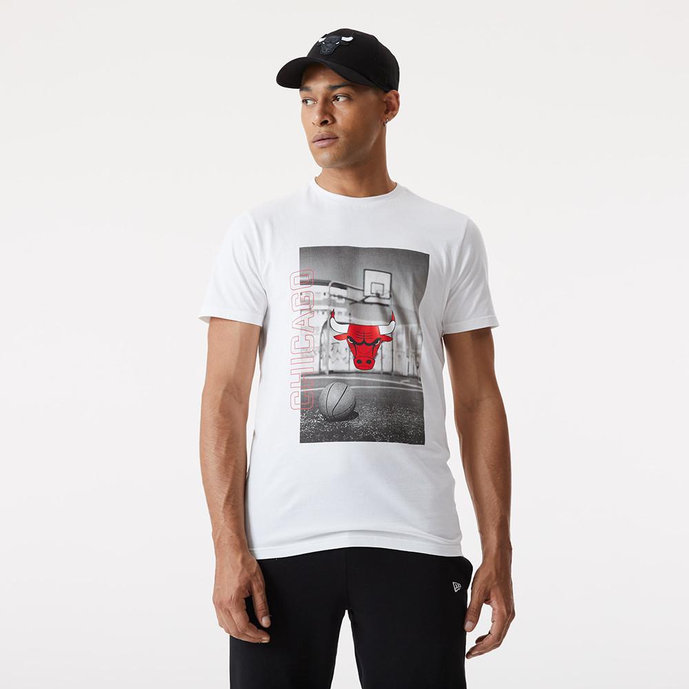 T-shirt imprimé photo des Bulls de Chicago blanc