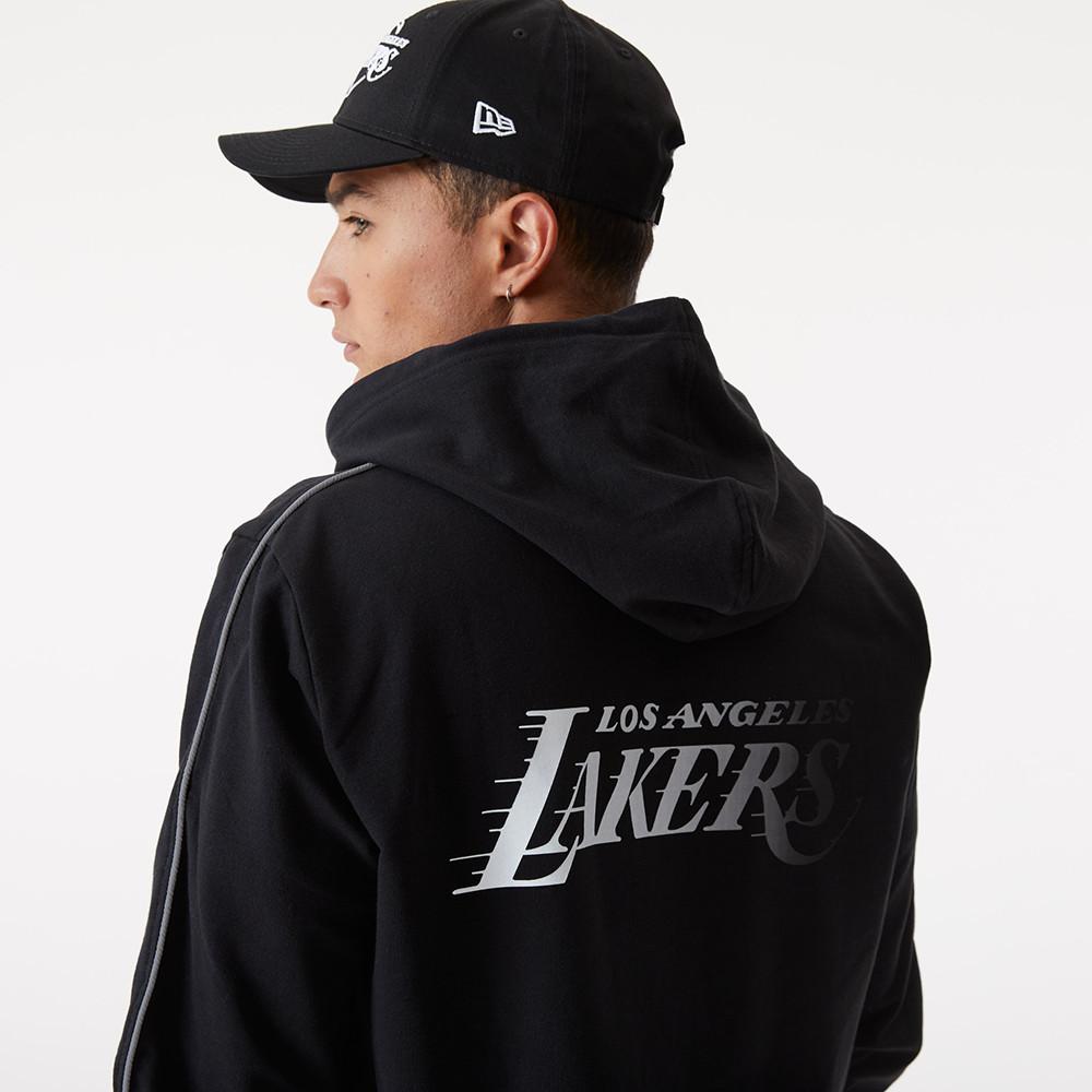 LA Lakers – Fade Logo – Hoodie in Schwarz mit Reißverschluss