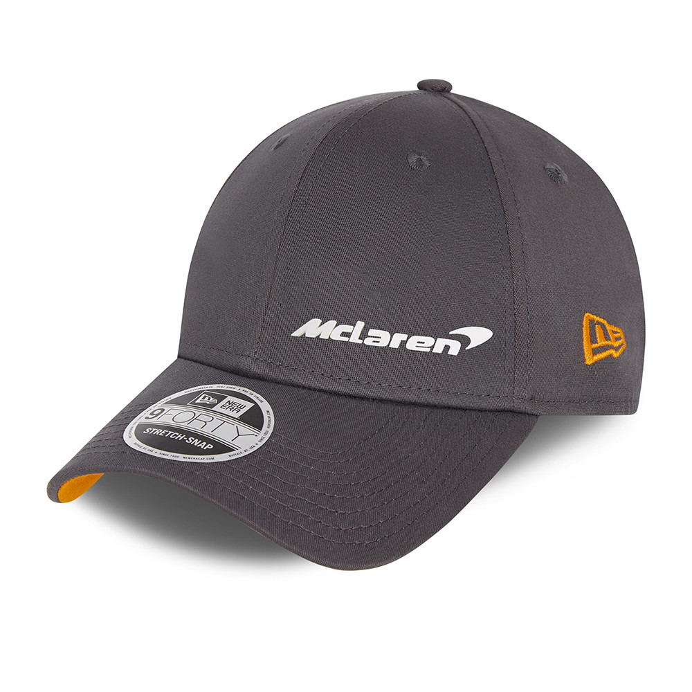 9FORTY – McLaren – F1 – Essential – Stretch-Snap-Kappe in Schwarz