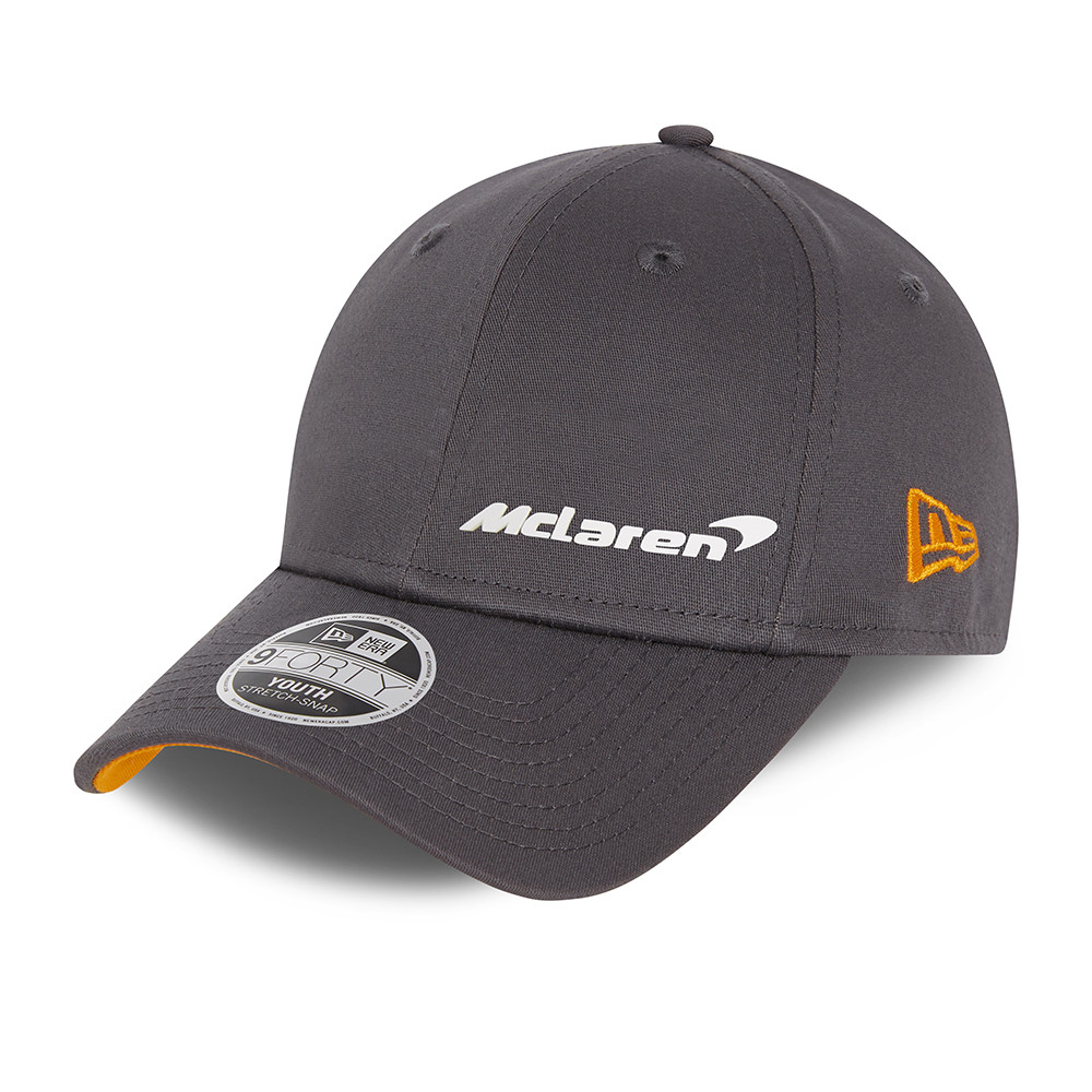 9FORTY – McLaren – F1 – Essential – Stretch-Snap-Kinderkappe in Grau