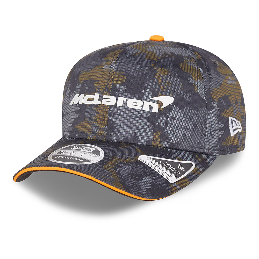 9FIFTY – McLaren – F1 – Tour – Stretch-Snap-Kappe in Grau