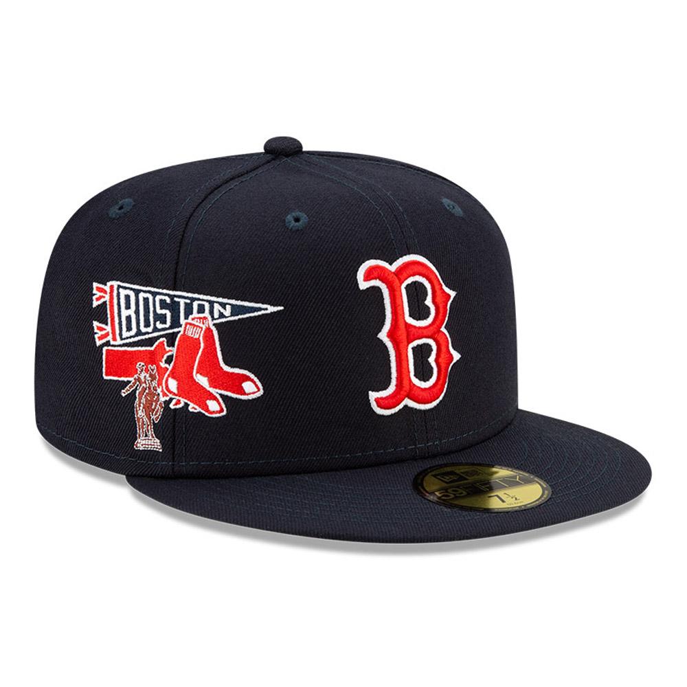 Casquette59FIFTY  MLB City Patch desBoston Red Sox, bleu marine