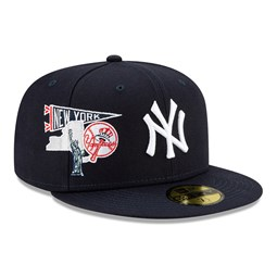 Casquette59FIFTY MLB City Patch desNew York Yankees, bleu marine