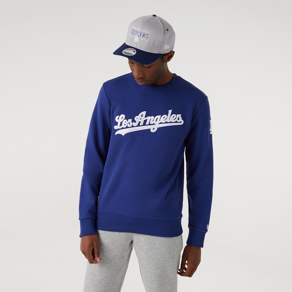 Felpa a girocollo Script LA Dodgers blu
