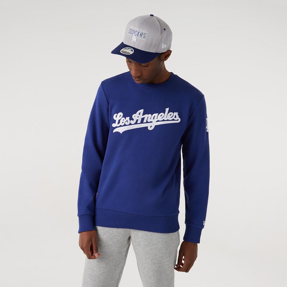 Sweatshirt ras du cou Script desLA Dodgers, bleu