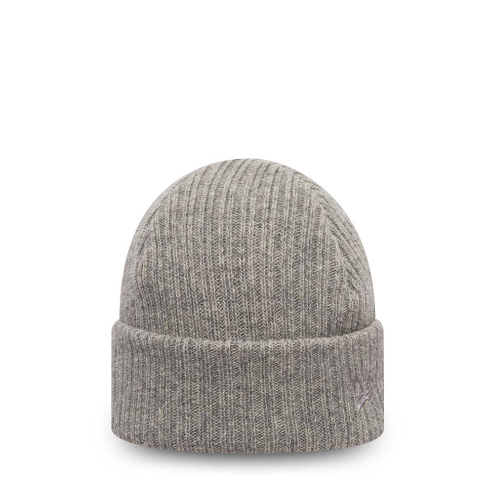 Bonnet à revers New Era Wool Mixed gris