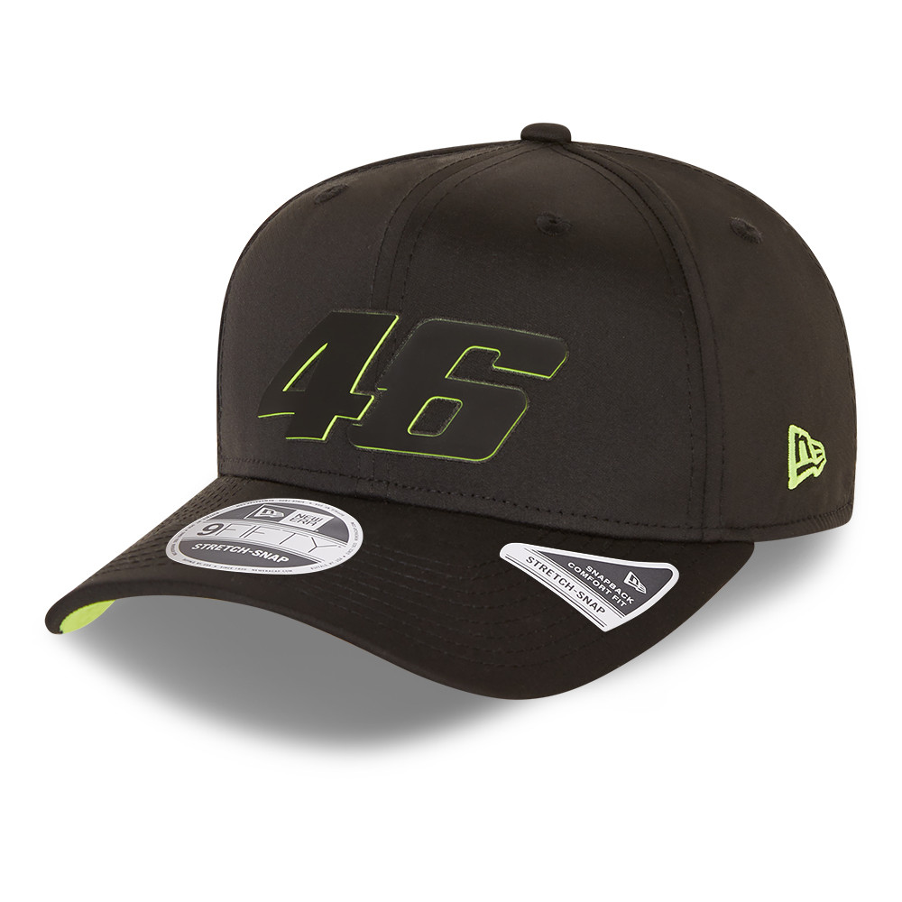 VR46 Black 9FIFTY Stretch Snap Cap