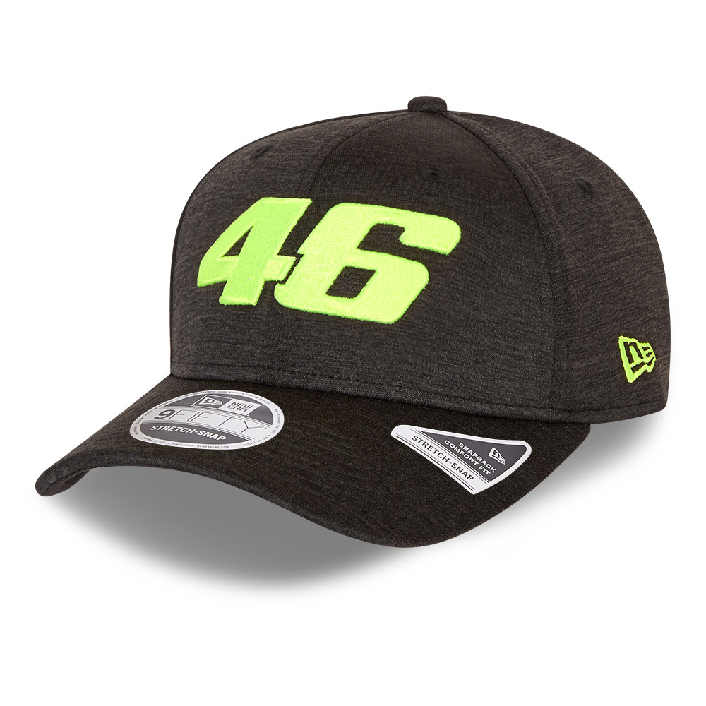 VR46 Core Shadow Tech Black 9FIFTY Stretch Snap Cap