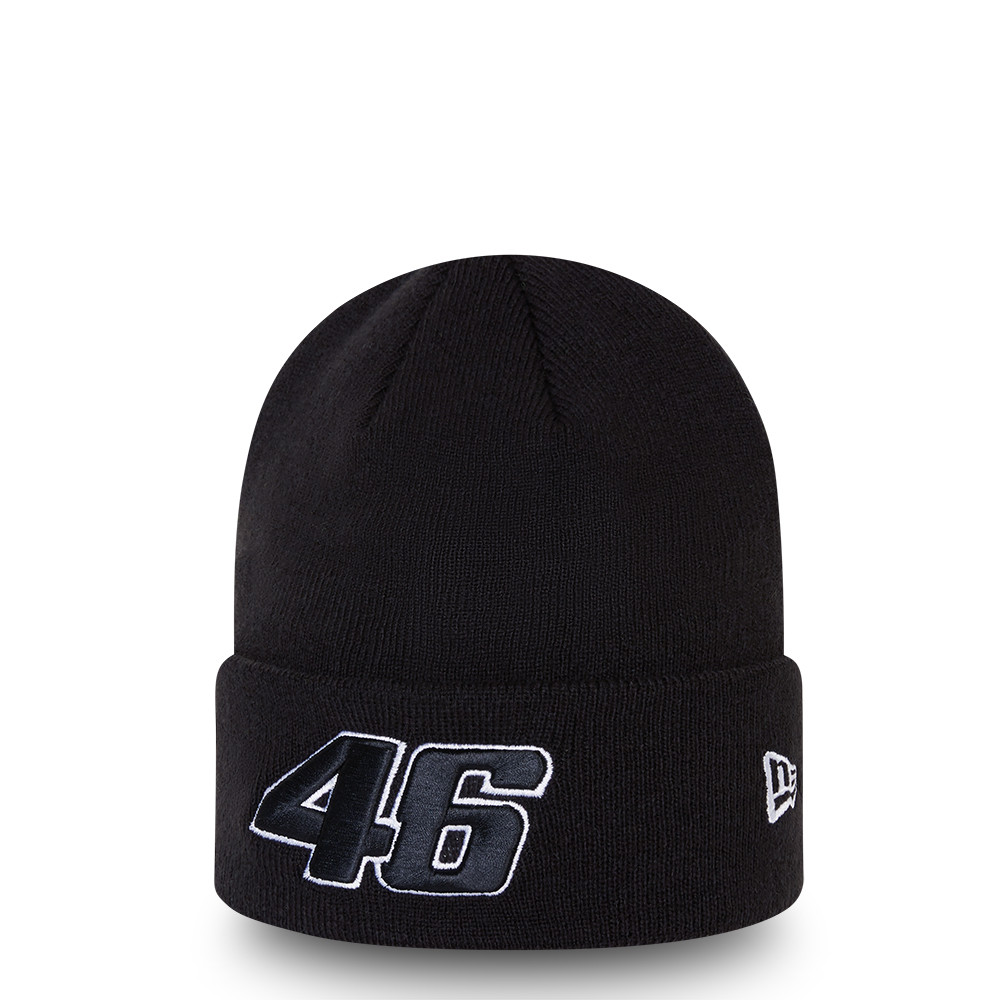 VR46 Core Black Knit Hat