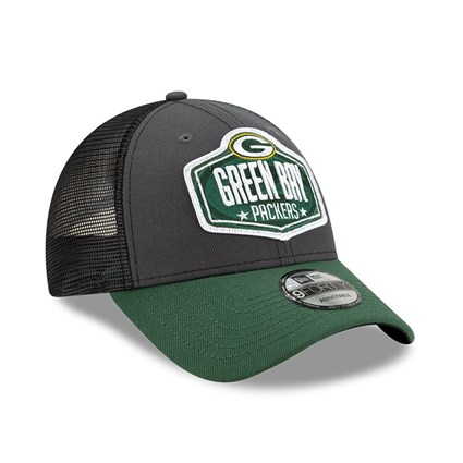 Green Bay Packers NFL Draft Grey 9FORTY Cap
