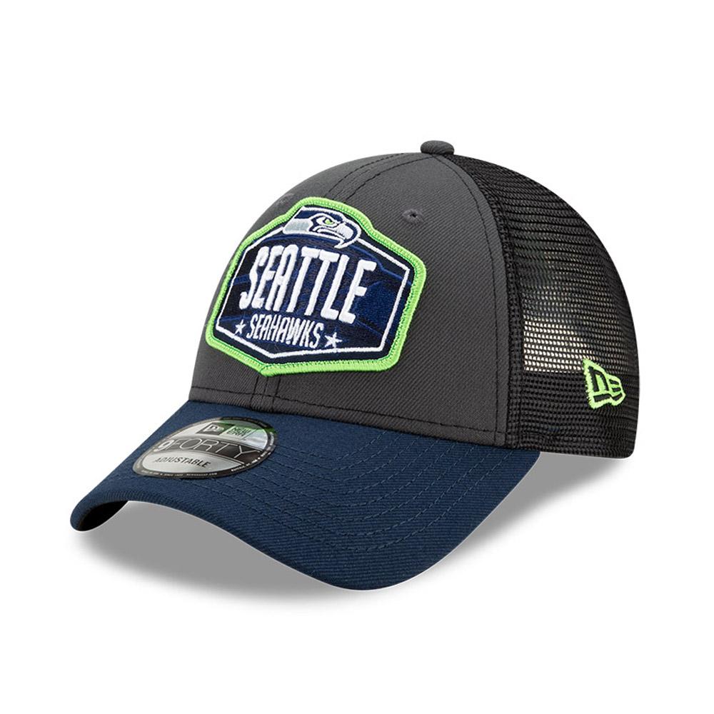 Cappellino 9FORTY NFL Draft Seattle Seahawks grigio