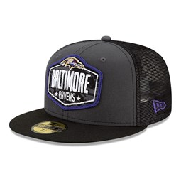 Baltimore Ravens NFL Draft Grey 59FIFTY Cap