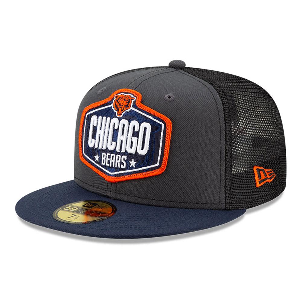 Cappellino 59FIFTY NFL Draft Chicago Bears grigio