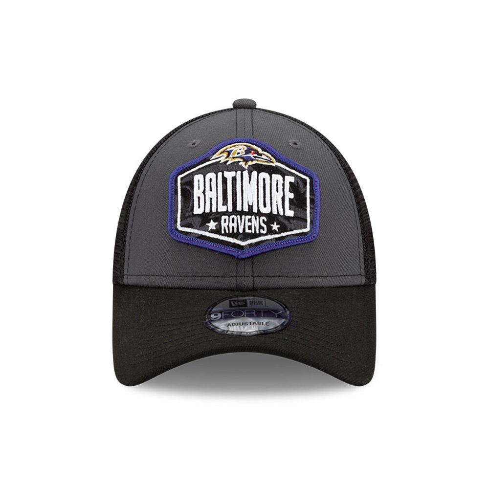 Casquette9FORTY NFLDraft des Baltimore Ravens, gris