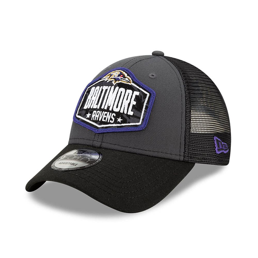 Cappellino 9FORTY NFL Draft Baltimore Ravens grigio
