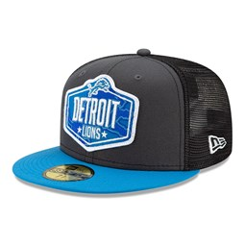 Detroit Lions NFL Draft Grey 59FIFTY Cap