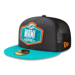 Miami Dolphins NFL Draft Grey 59FIFTY Cap