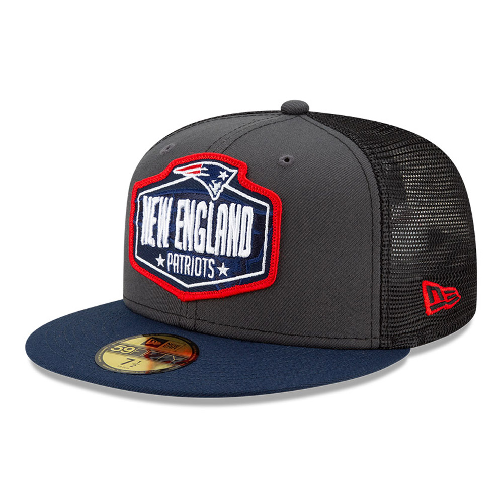 59FIFTY – New England Patriots – NFL Draft – Kappe in Grau