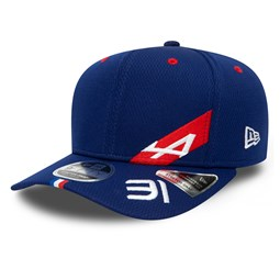 Cappellino 9FIFTY Stretch Snap Alpine F1 Driver Dash Esteban Ocon blu