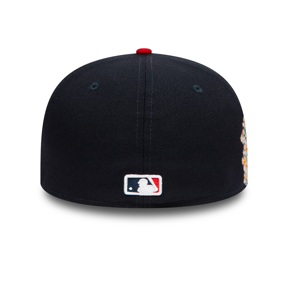 Casquette bleue marine 59FIFTY Atlanta Braves MLB Flower
