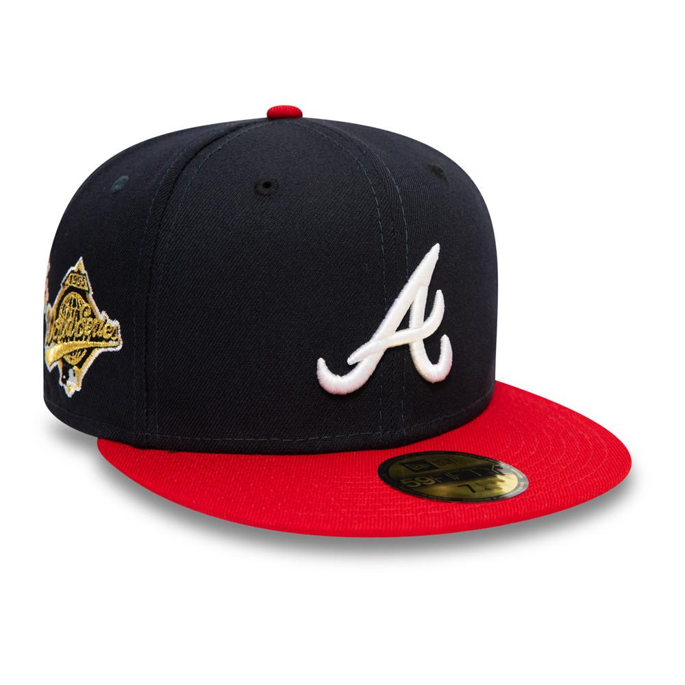 Cappellino 59FIFTY MLB Flower degli Atlanta Braves blu navy