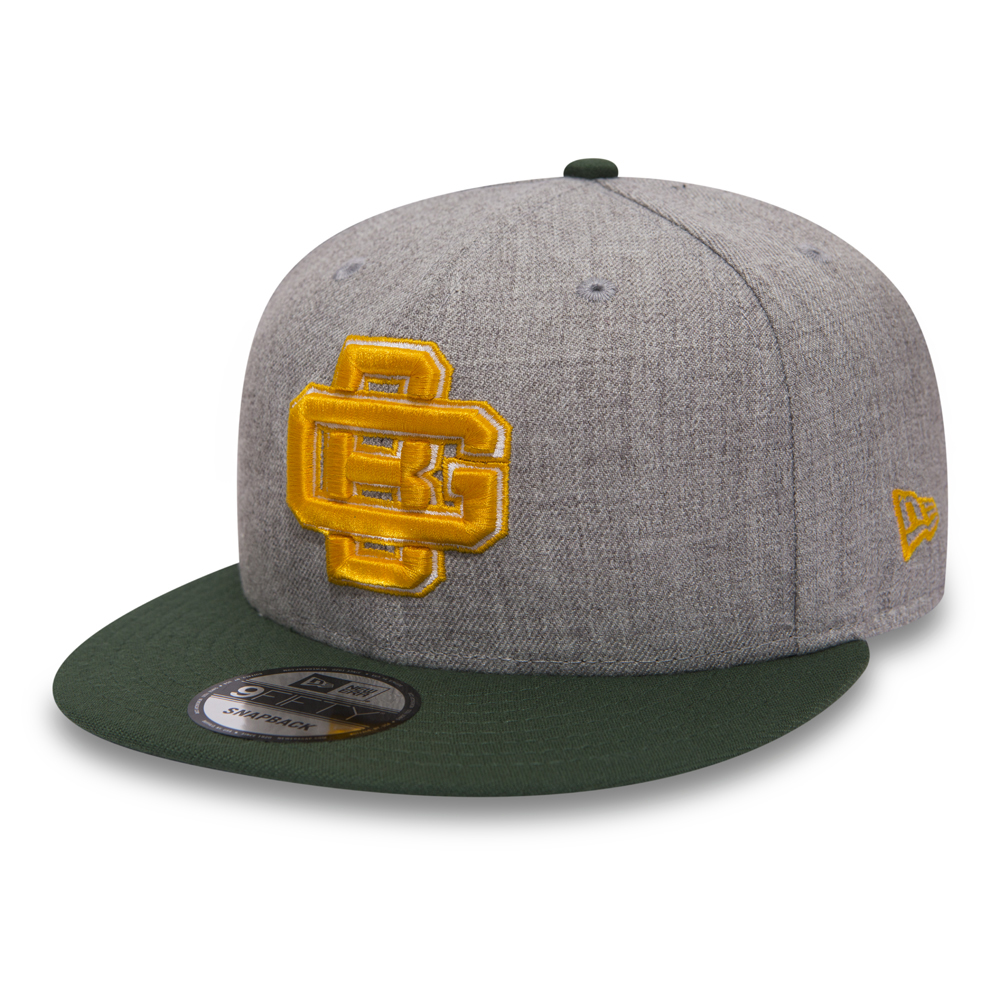 c2b7cb16302e2 Green Bay Packers 9FIFTY Heather Grey 9FIFTY Snapback