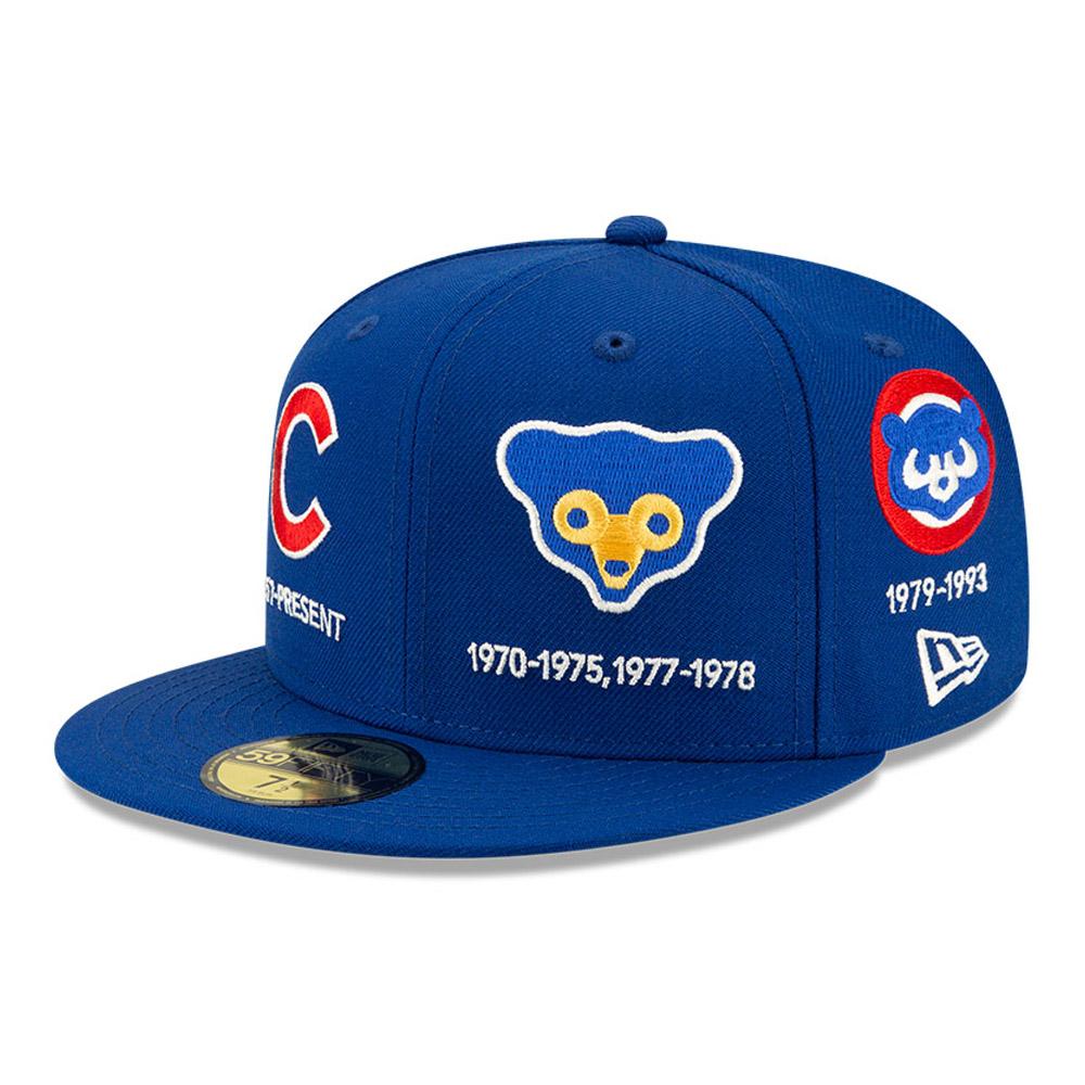 Cappellino 59FIFTY MLB  Logo Progression dei Chicago Cubs blu