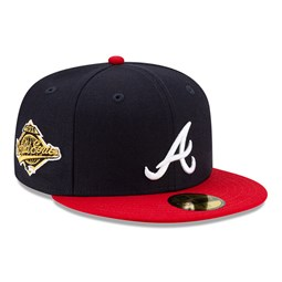 59FIFTY – Atlanta Braves – MLB World Series – Kappe in Marineblau