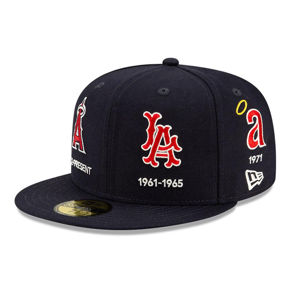 Cappellino 59FIFTY MLB Logo Progression degli LA Angels rosso