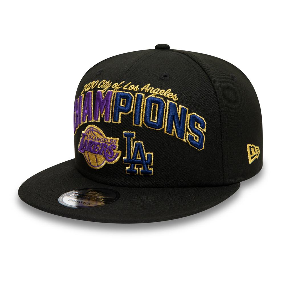 LA Lakers and LA Dodgers Co Champs Black 9FIFTY Cap