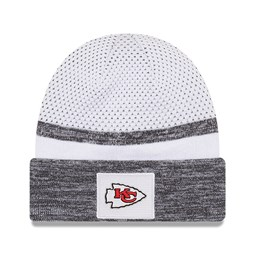Kansas City Chiefs Super Bowl Sideline White Cuff Knit Hat