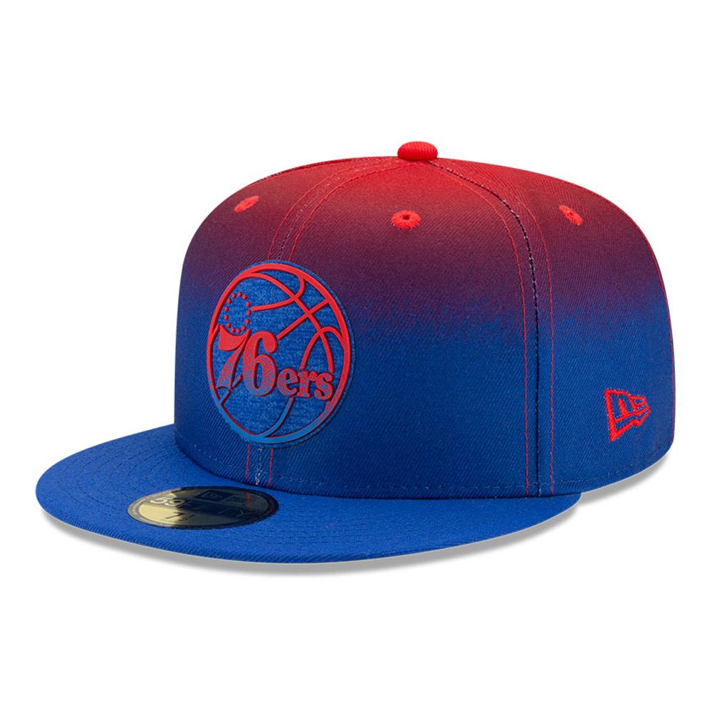 Cappellino 59FIFTY NBA Back Half Philadelphia 76ers blu