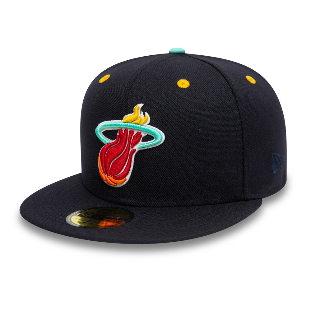 59FIFTY – Miami Heat – Team Logo – Kappe in Marineblau