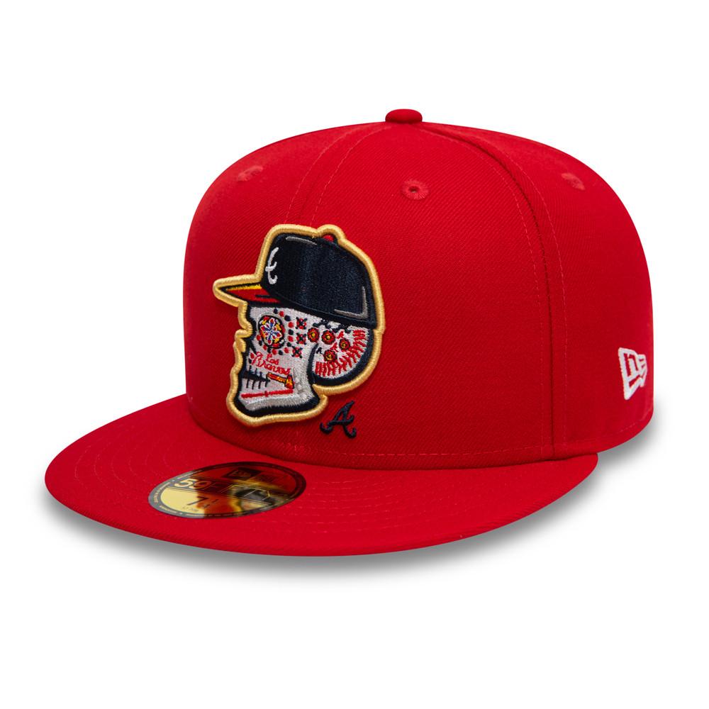 59FIFTY – Atlanta Braves – Los Bravos – Kappe mit Totenkopfmotiv