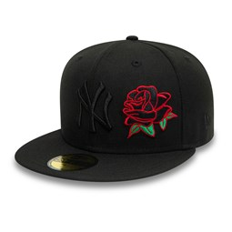 Cappellino 59FIFTY New York Yankees Champs 27 Rose nero