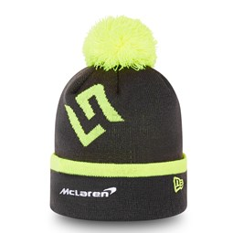 McLaren Lando Norris Black Bobble Knit Hat